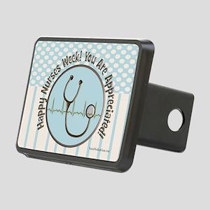 CP happy nurses week choco Rectangular Hitch Cover