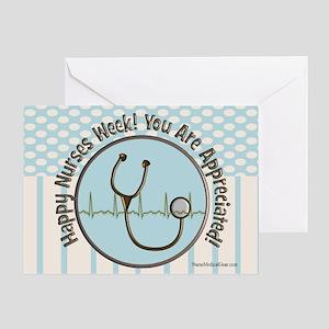 CP happy nurses week chocolate blue Greeting Card