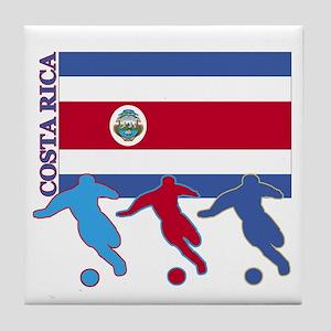 Costa Rica Soccer Tile Coaster