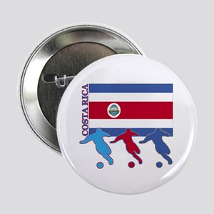 "Costa Rica Soccer 2.25"" Button (10 pack)"