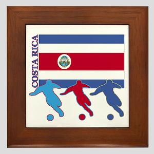 Costa Rica Soccer Framed Tile