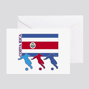 Costa Rica Soccer Greeting Cards (Pk of 10)