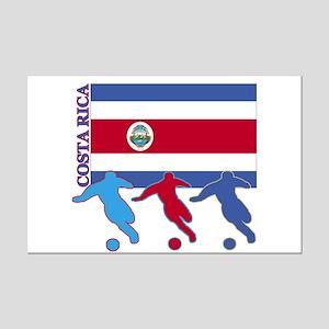 Costa Rica Soccer Mini Poster Print