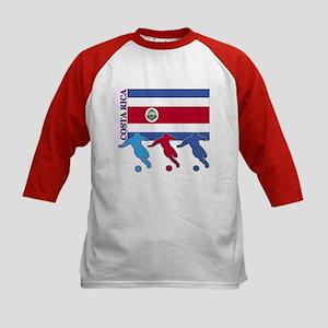 Costa Rica Soccer Kids Baseball Jersey