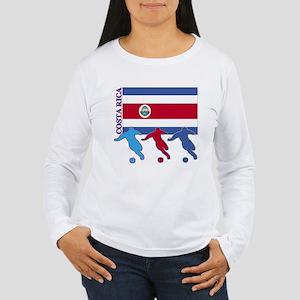 Costa Rica Soccer Women's Long Sleeve T-Shirt