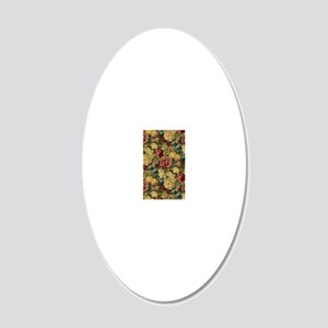 iPhone3FruitFlowers 20x12 Oval Wall Decal
