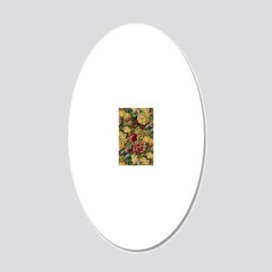 iPhone4SliderFruitFlowers 20x12 Oval Wall Decal