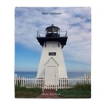 Olcott Lighthouse Throw Blanket