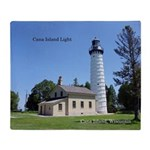Cana Island Light Throw Blanket