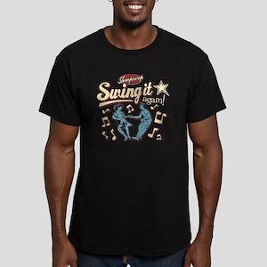 Swing It Again! Men's Fitted T-Shirt (dark)