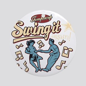 Swing It Again! Round Ornament