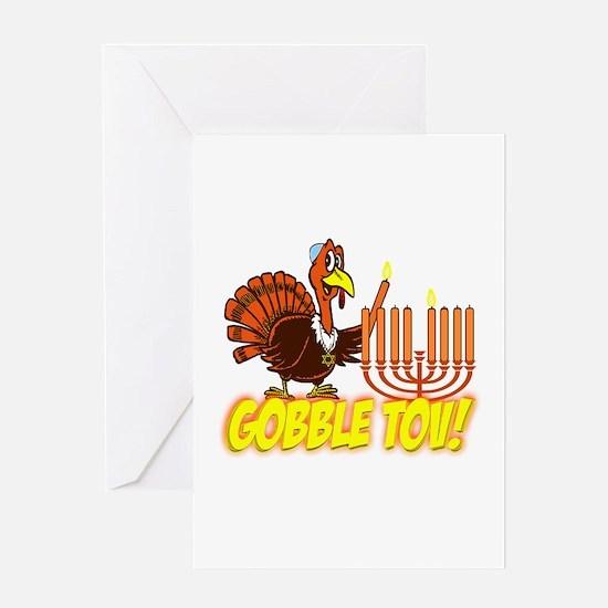 Gobble Tov Thanksgivukkah Turkey and Menorah Greet