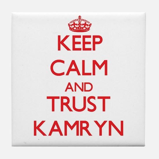 Keep Calm and TRUST Kamryn Tile Coaster