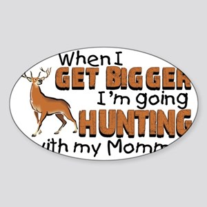 hunting mommy Sticker (Oval)