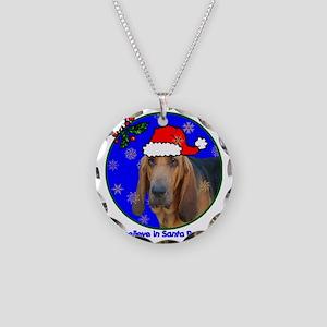bloodhoundxmas-shirt Necklace Circle Charm