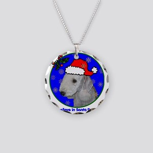 bedlingtonterrierxmas-shirt Necklace Circle Charm
