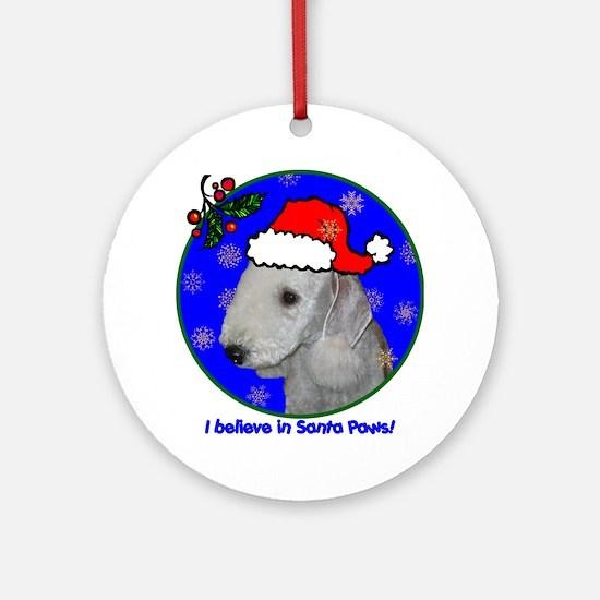bedlingtonterrierxmas-shirt Round Ornament