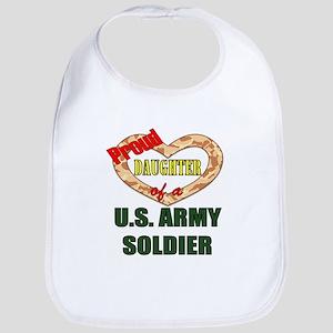 Proud Army Daughter Bib