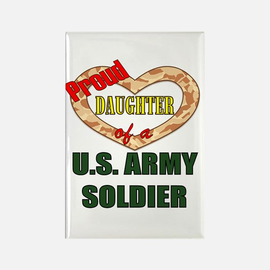 Proud Army Daughter Rectangle Magnet
