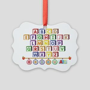 ABC Blocks Picture Ornament