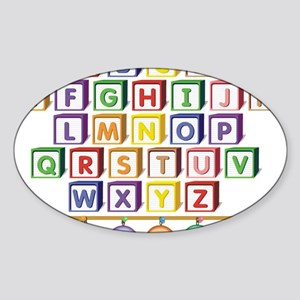 ABC Blocks Sticker (Oval)