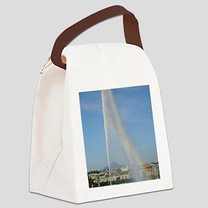 Jet deau Lake Geneva Canvas Lunch Bag