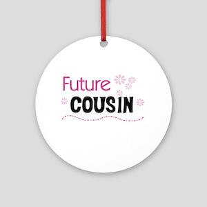 Future Cousin (pink) Ornament (Round)