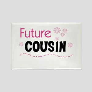 Future Cousin (pink) Rectangle Magnet