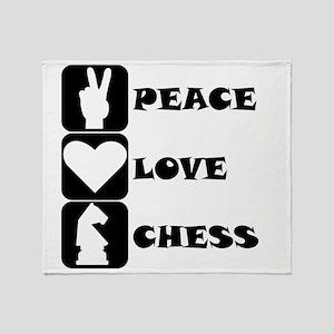Peace Love Chess Throw Blanket