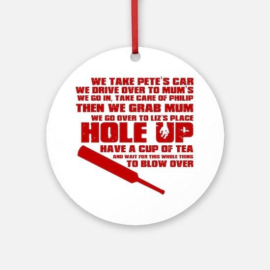 HoleUp Round Ornament