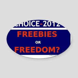 Choice 2012 Placard Oval Car Magnet