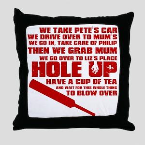 HoleUp Throw Pillow