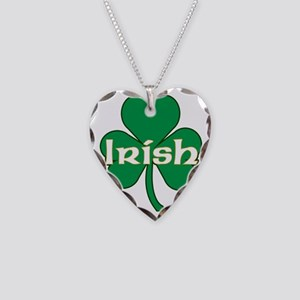 IRISH-SHAMROCK-LARGE-VECTOR Necklace Heart Charm