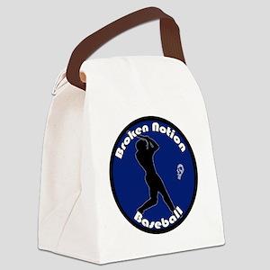 bnbaseballblue Canvas Lunch Bag