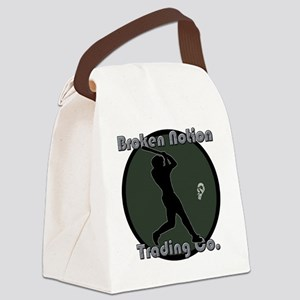 bnbaseballgreen Canvas Lunch Bag