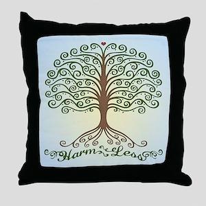 harm-less-tree-BUT Throw Pillow