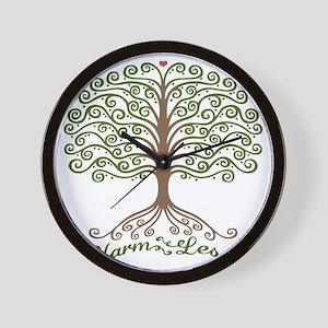 harm-less-tree-T Wall Clock