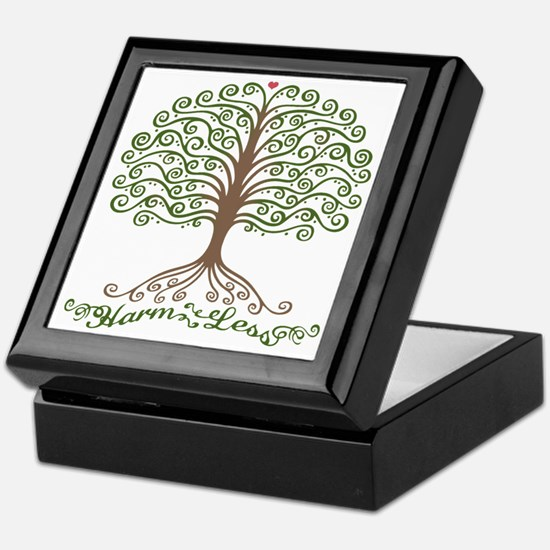 harm-less-tree-T Keepsake Box