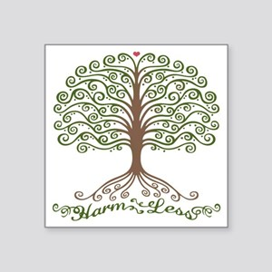 "harm-less-tree-T Square Sticker 3"" x 3"""