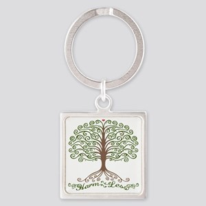 harm-less-tree-T Square Keychain