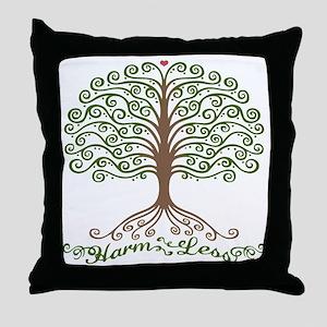harm-less-tree-T Throw Pillow