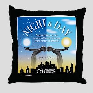 12Night_Day Throw Pillow