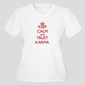 Keep Calm and TRUST Karma Plus Size T-Shirt