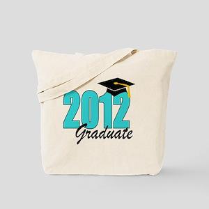 2012 graduate aqua Tote Bag