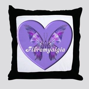FIBRO BUTTERFLY HEART Throw Pillow