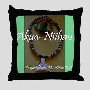 Akua Niihau Throw Pillow