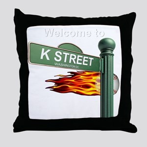 K STREET Welcome Reverse Throw Pillow