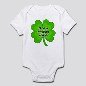 Oma is My Lucky Charm Infant Bodysuit