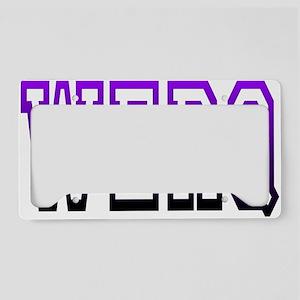 werq License Plate Holder