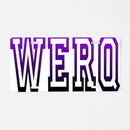werq Aluminum License Plate